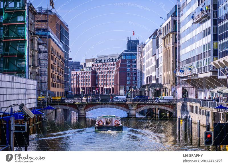 Hamburg Verkehr Verkehrswege Schifffahrt Binnenschifffahrt Passagierschiff Kreuzfahrtschiff Wasserfahrzeug Hafen Abenteuer Bewegung Erfahrung Freizeit & Hobby