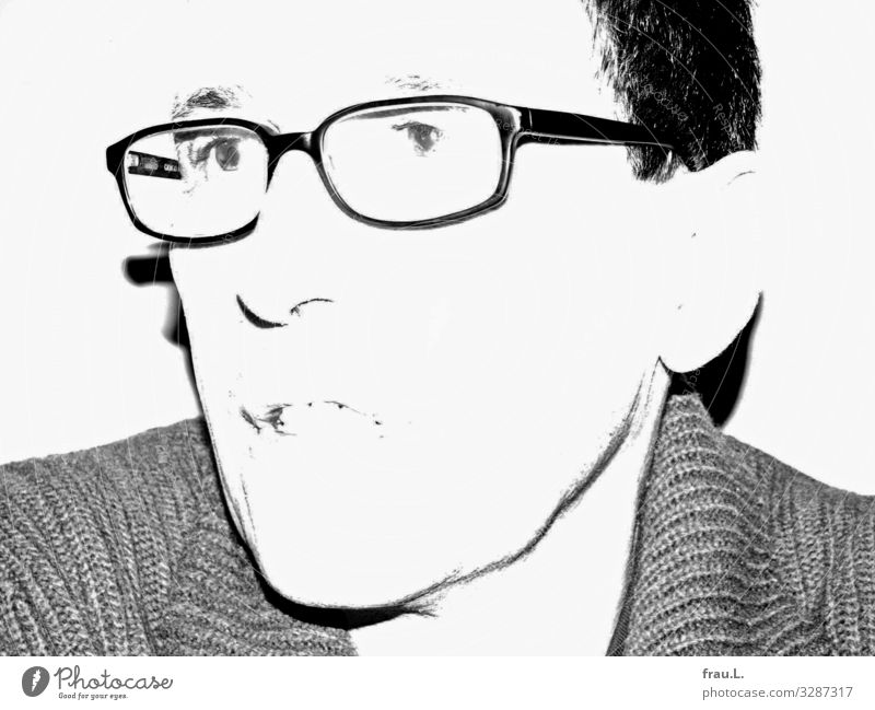 Kleiner Silvesterscherz Mensch Mann Essen Erwachsene sprechen Feste & Feiern Kopf 45-60 Jahre Brille trinken Restaurant Silvester u. Neujahr schwarzhaarig