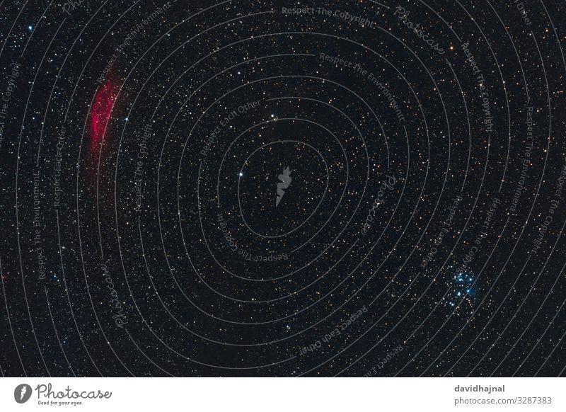 Kaliforniennebel und Plejaden Technik & Technologie Wissenschaften Fortschritt Zukunft High-Tech Astronomie Umwelt Natur Himmel nur Himmel Wolkenloser Himmel