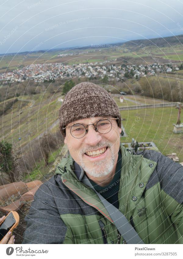 Wandern im Schwabenland Mensch Ferien & Urlaub & Reisen Natur Mann grün Landschaft Freude Lifestyle Erwachsene Umwelt Sport Tourismus Stimmung Zufriedenheit