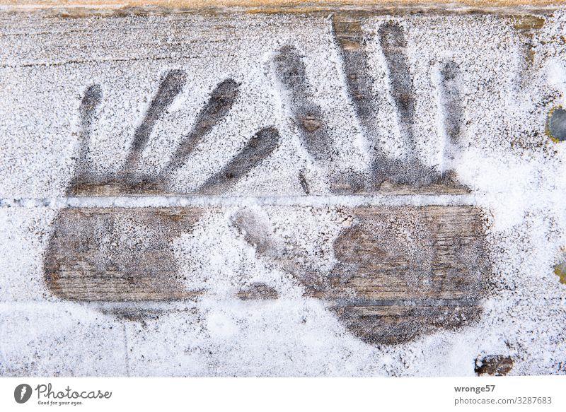 Hautsache | spröde Hände weiß Winter kalt braun Eis Frost Abdruck
