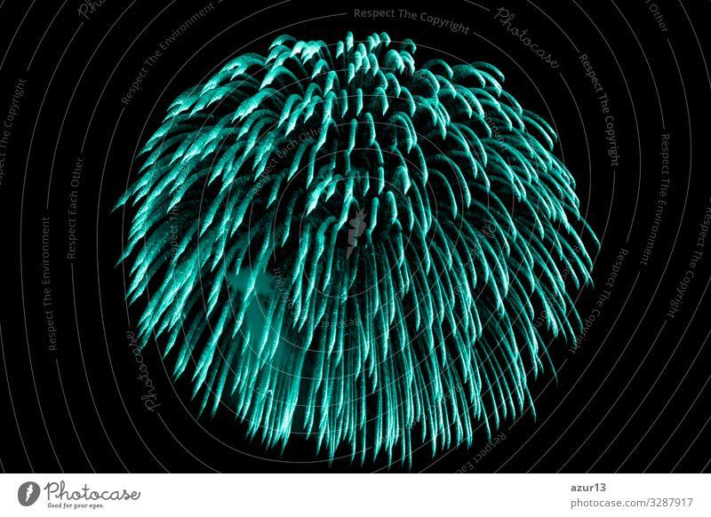 Luxury beautiful turquoise fireworks event sky shower Lifestyle Nachtleben Entertainment Party Veranstaltung Feste & Feiern Silvester u. Neujahr Jahrmarkt Kunst