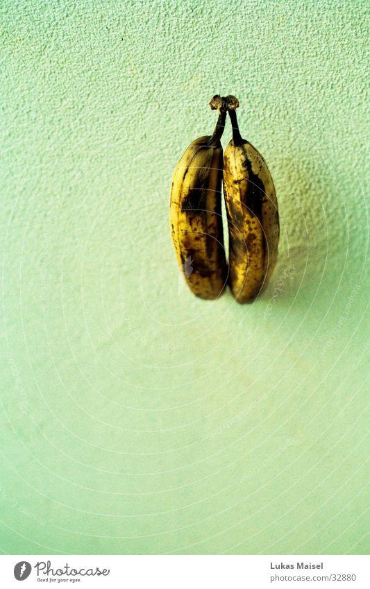 bananas gelb braun Frucht Dinge Banane hell-blau