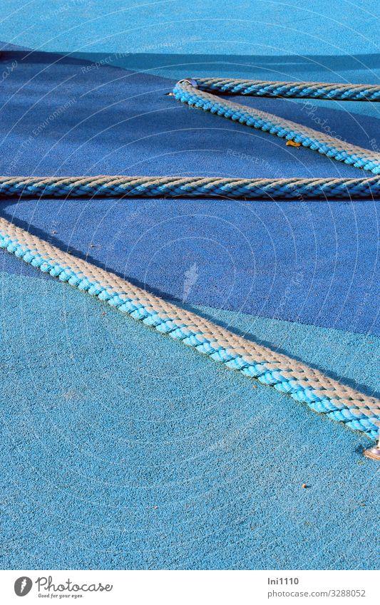 Zickzack Freizeit & Hobby Spielen Fortschritt Zukunft High-Tech blau grau Bodenbelag Schaumstoff weich wasserdicht Spielplatz Sportstätten Seil Abtrennung