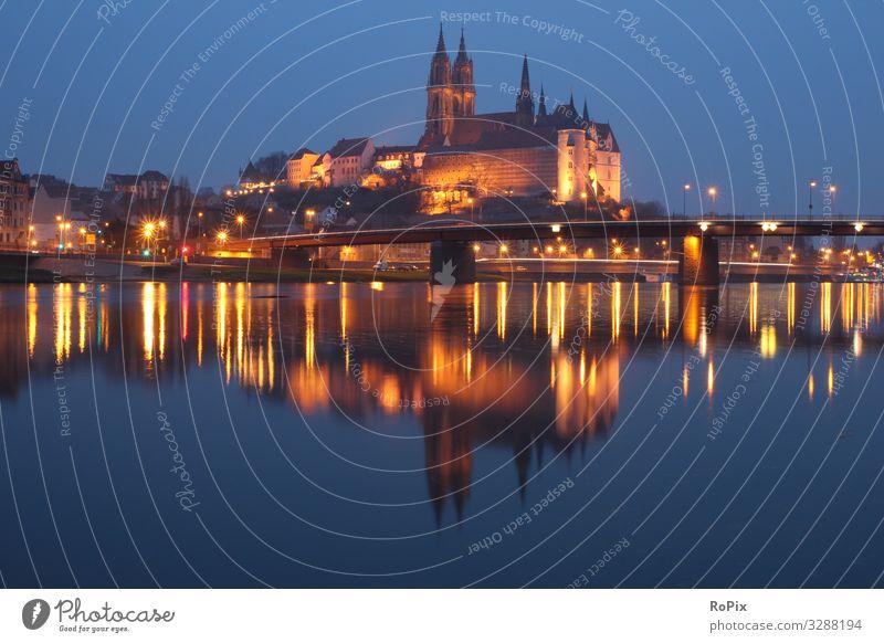 Albrechtsburg in Meissen. Lifestyle Design Wellness Erholung Ferien & Urlaub & Reisen Tourismus Sightseeing Städtereise Kunst Architektur Umwelt Natur
