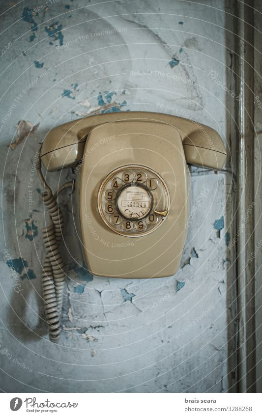 Retro-Telefon Stil Tapete Büro Telekommunikation Callcenter sprechen Technik & Technologie Fortschritt Zukunft Informationstechnologie Linie alt Kommunizieren