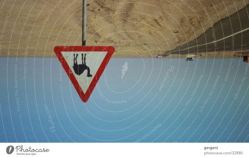 Achtung Kamele Straße Schilder & Markierungen Wüste obskur Ägypten Sahara