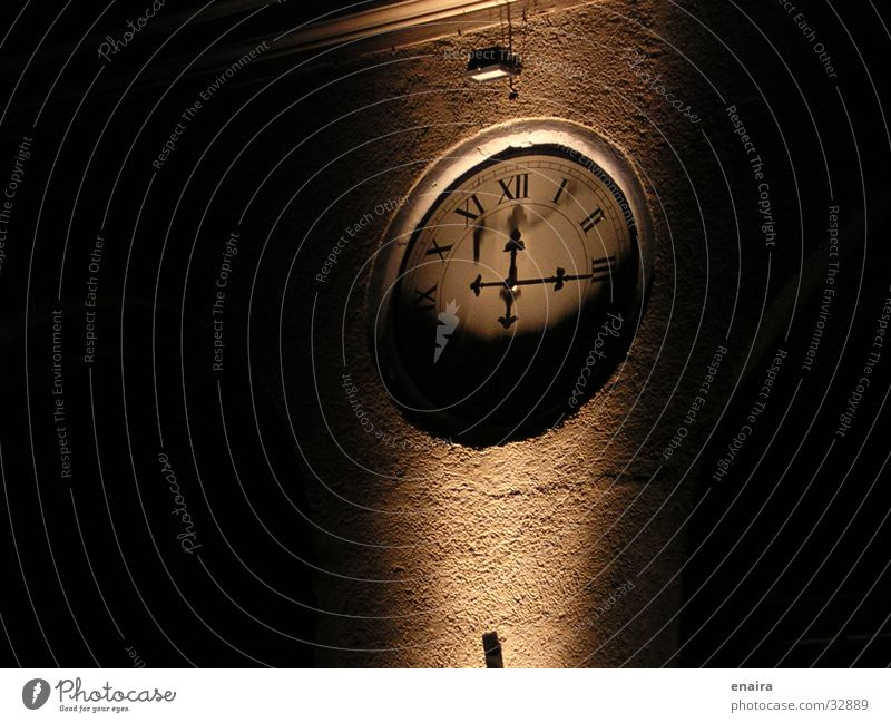 Zeit Nacht Licht Uhr Elektrisches Gerät Technik & Technologie Uhrenzeiger Scheinwerfer