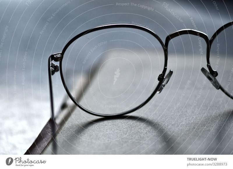 Brille, leicht und schlank... Business Denken Arbeit & Erwerbstätigkeit Büro Design elegant ästhetisch Erfolg Perspektive lernen Papier Studium