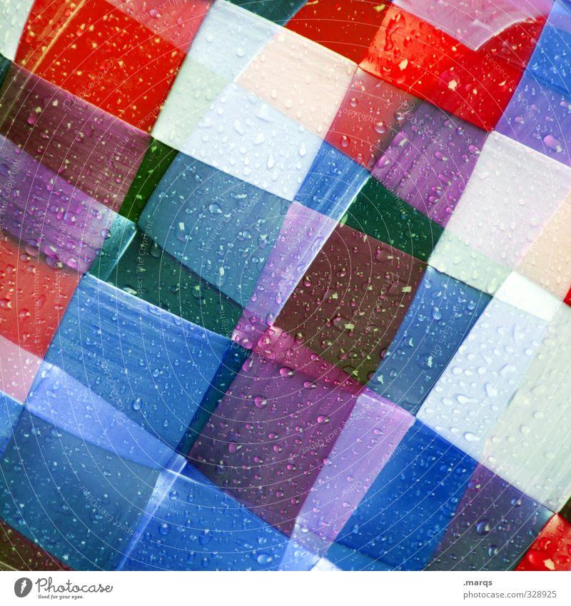 Wetwetwet blau weiß rot Stil Hintergrundbild Linie Kunst außergewöhnlich elegant Design Lifestyle modern verrückt Dekoration & Verzierung Wassertropfen Coolness
