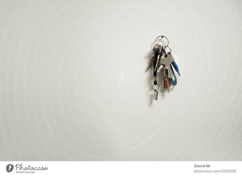 Schlüssel Mensch Haus Lifestyle Leben Wand Stil Business Kunst Arbeit & Erwerbstätigkeit Büro Häusliches Leben Design Wohnung elegant kaufen geschlossen