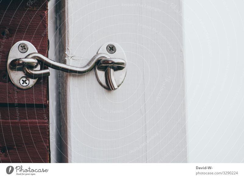 verschlossen Mensch Haus Lifestyle Stil Garten Arbeit & Erwerbstätigkeit Häusliches Leben Wohnung Angst Metall Tür geschlossen bedrohlich Schutz Sicherheit