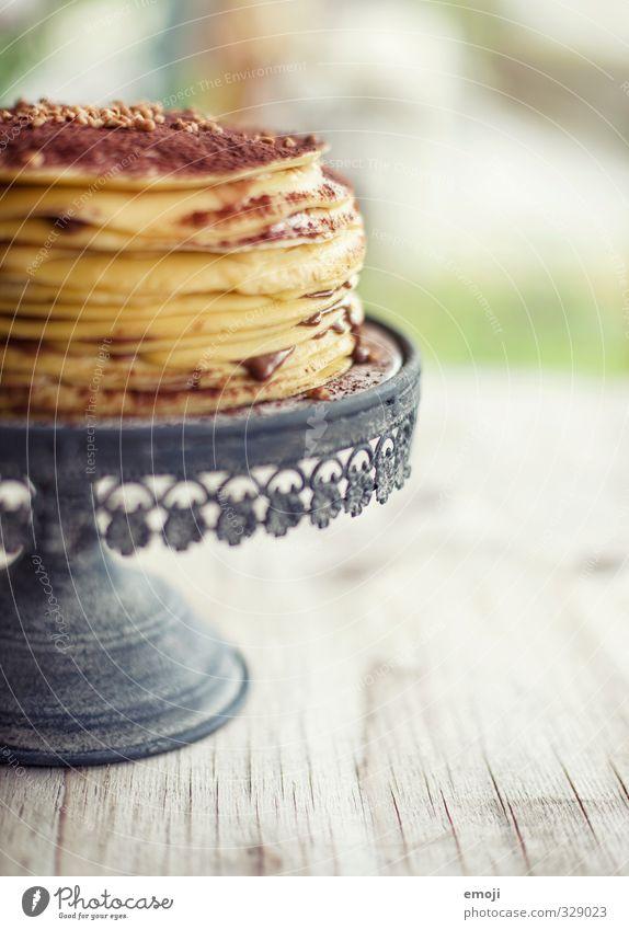wer will das letzte Stück? Kuchen Dessert Süßwaren Schokolade Ernährung Tortenplatte lecker süß Kalorienreich Crêpe Farbfoto Innenaufnahme Nahaufnahme