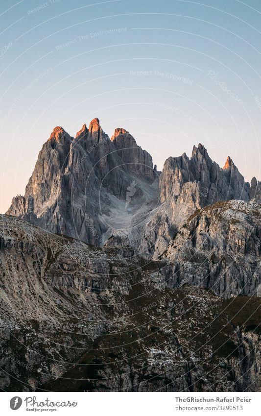 Sonnenaufgang an der Auronzo-Hütte Gipfel Südtirol wandern Aussicht Berge u. Gebirge Alpen Natur Landschaft Panorama (Aussicht) Dolomiten Felsen Erholung Himmel