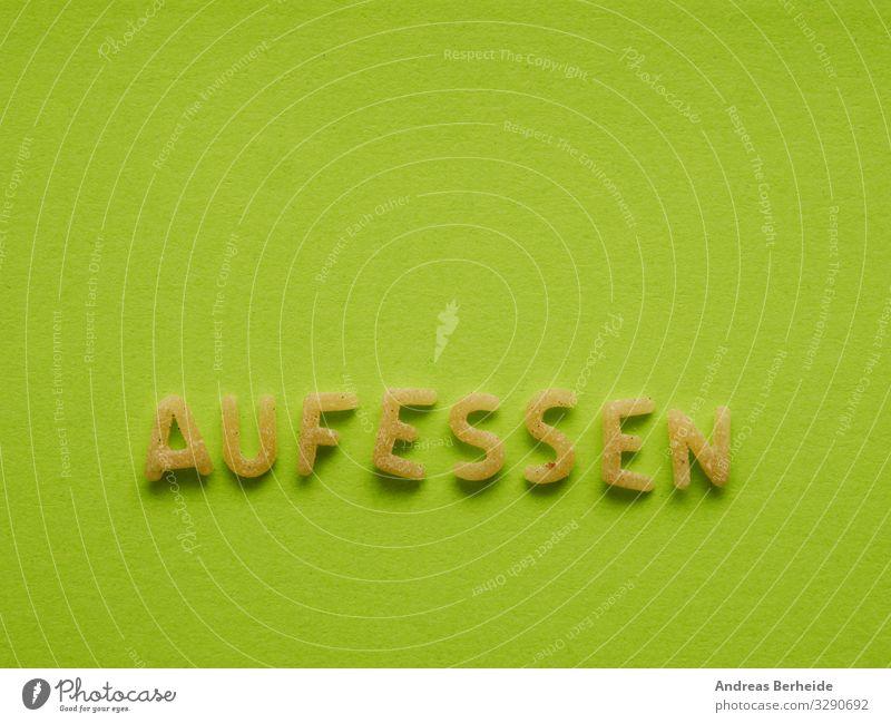 Aufessen Lebensmittel Teigwaren Backwaren Ernährung Bioprodukte Appetit & Hunger aufessen Essen Magersucht Kindererziehung Nudeln Buchstaben Buchstabennudeln