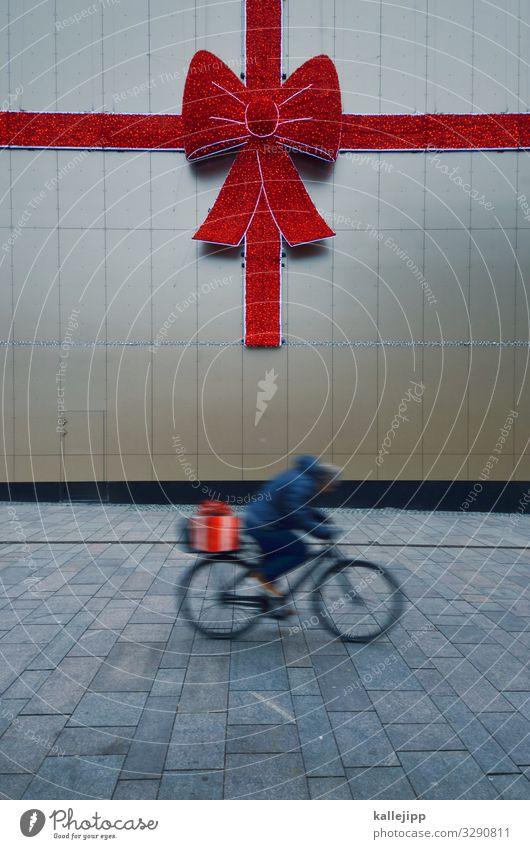vorweihnachtsstress Mensch Weihnachten & Advent Stadt Lifestyle Feste & Feiern Stil Freizeit & Hobby Dekoration & Verzierung Fahrrad elegant Geschenk kaufen