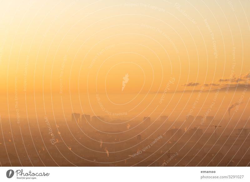 sunset skyline Ferien & Urlaub & Reisen Ferne Industrie Umwelt Natur Himmel Wolken Horizont Klima Klimawandel Wetter Stadt Stadtzentrum Stadtrand Skyline