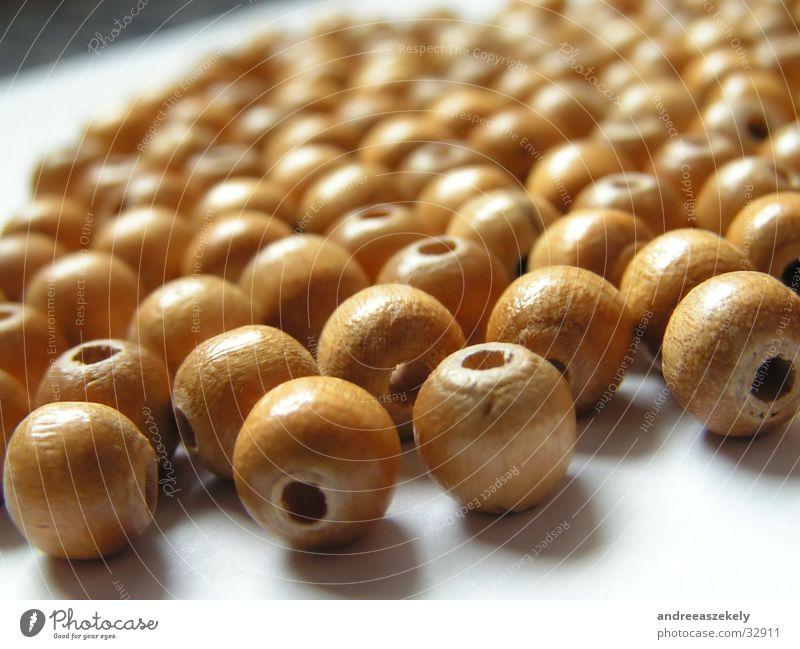 holzperlen Holz hell rund Handwerk Perle Rolle rustikal Ocker Holzperle