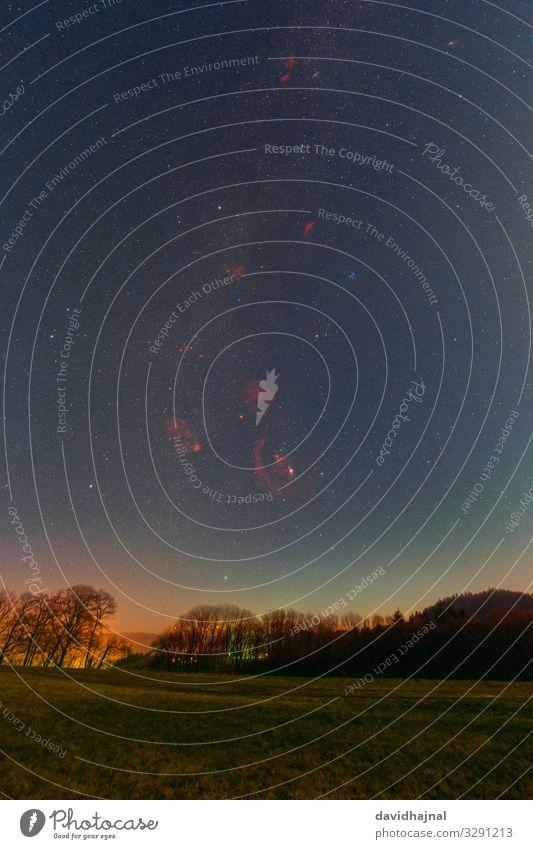 Winterhimmel Ultraweitwinkel Technik & Technologie Wissenschaften Fortschritt Zukunft Astronomie Kunst Umwelt Natur Landschaft Himmel Wolkenloser Himmel