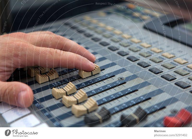 Musik Technik & Technologie Industrie Medien digital Kontrolle Knöpfe Entertainment Musiker Klang elektrisch Diskjockey elektronisch professionell rühren Regler