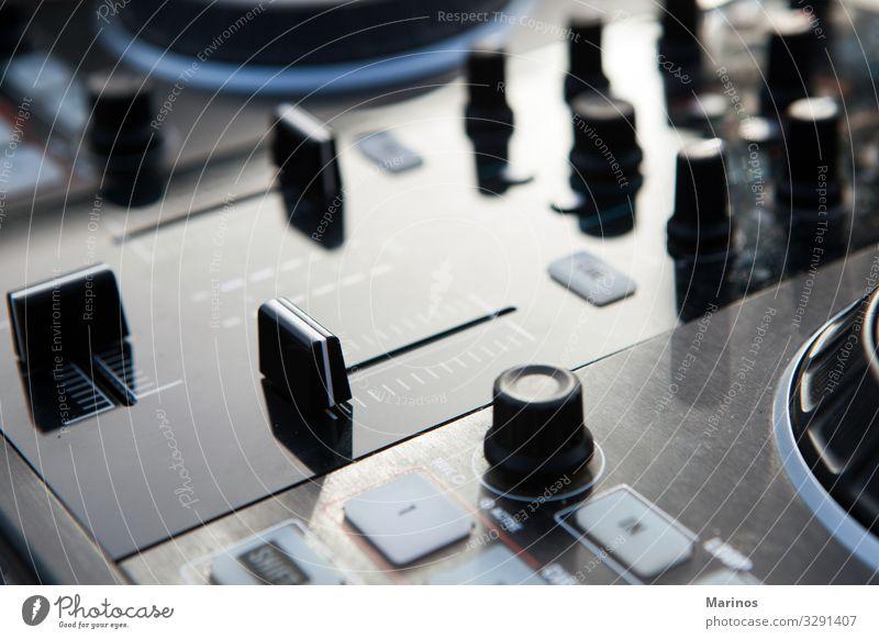 dj-Mixer-Regler. Entertainment Musik Diskjockey Industrie Technik & Technologie Musiker Medien Kontrolle Klang Knöpfe Audio rühren Fader Lautstärke Gerät
