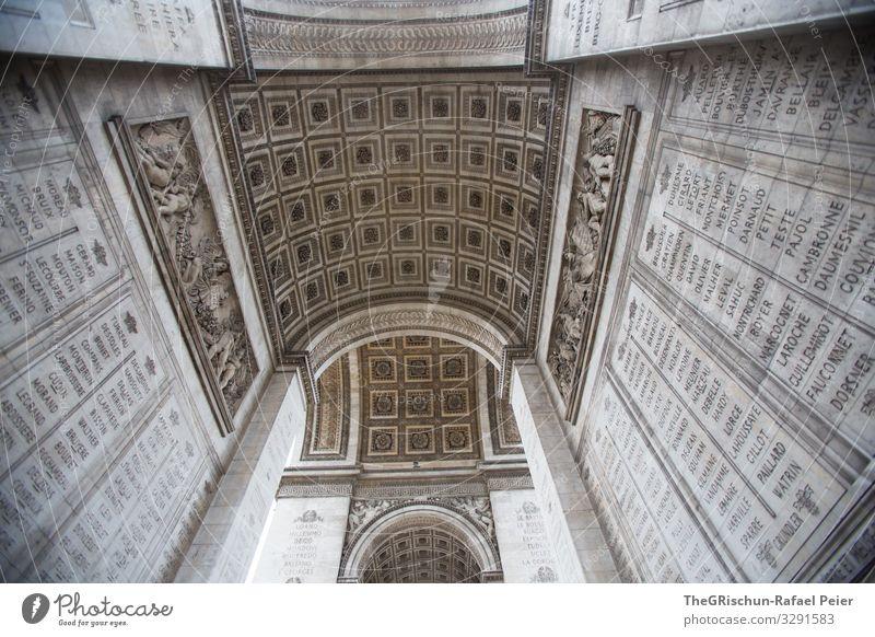 Arc de triomphe Stadt Hauptstadt weiß Arc de Triomphe Triumphbogen Bauwerk Kunstwerk Bogen Architektur Paris Römer Farbfoto Außenaufnahme Licht Schatten