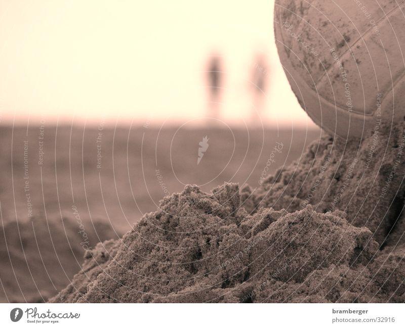 Volleyball im Sand Strand Sand Freizeit & Hobby Ball Volleyball