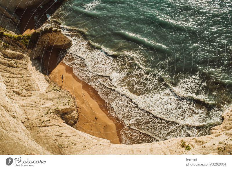Stein, Sand und Meer Ferien & Urlaub & Reisen Sommer Wasser Landschaft Sonne Strand Leben Wärme Küste Freiheit Felsen Ausflug Zufriedenheit Freizeit & Hobby