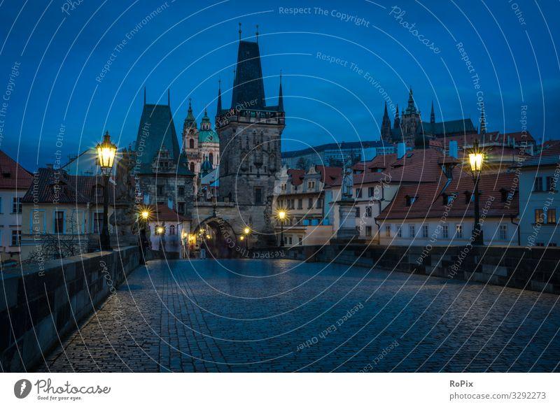 Historische Skyline von Prag. Lifestyle Stil Leben Erholung Meditation Freizeit & Hobby Ferien & Urlaub & Reisen Tourismus Sightseeing Städtereise Wirtschaft