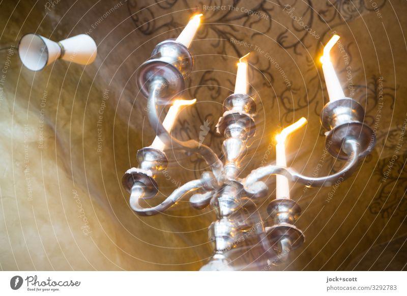 zu Abend Metall leuchten Kerze Sachsen Sammlerstück Kerzenständer Hängelampe