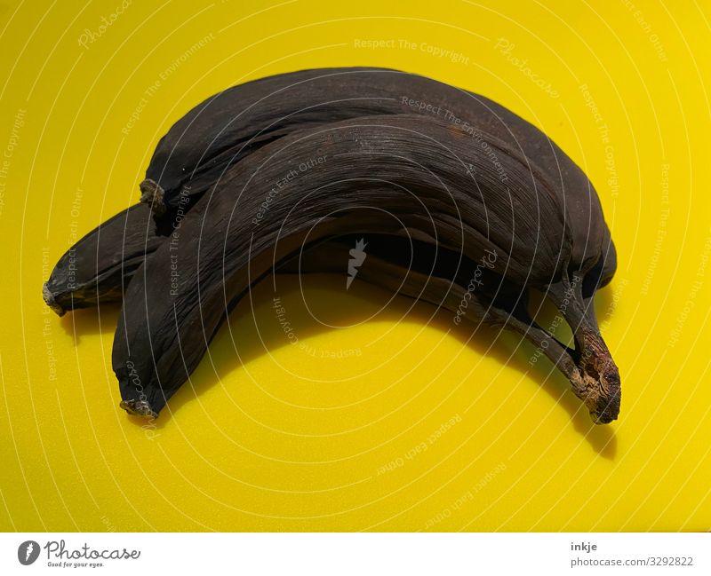 Warte, nicht wegwerfen! Die möchte ich erst fotografieren Frucht Banane Ernährung alt Ekel braun gelb Vergänglichkeit Wandel & Veränderung verdorben reif