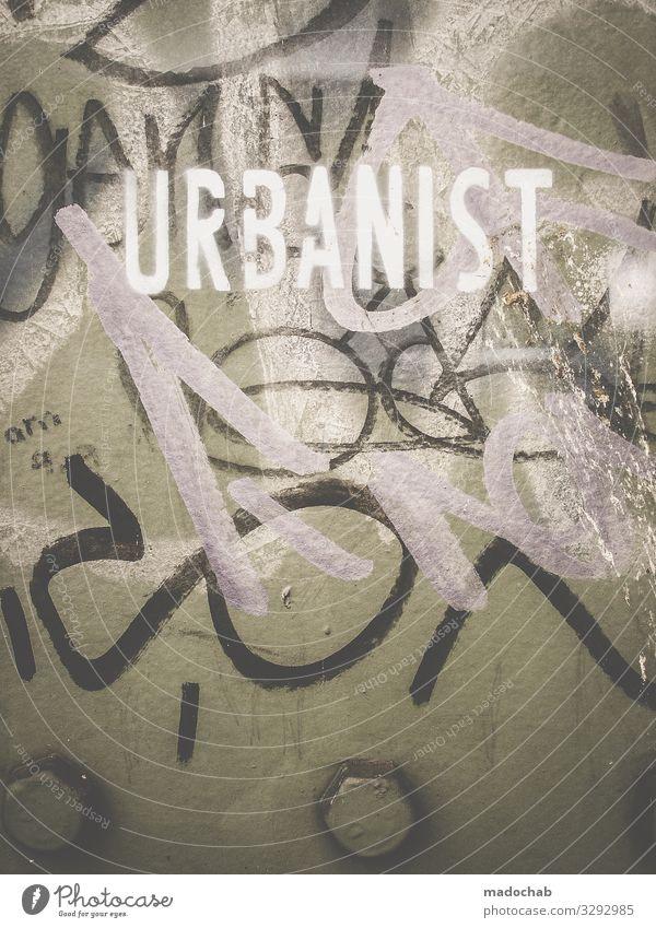 URBANIST Graffiti Geschmiere Wort Buchstaben Tag Straßenkunst Jugendkultur Wandmalereien Kreativität Schriftzeichen Mauer Typographie Schmiererei Zeichen Text