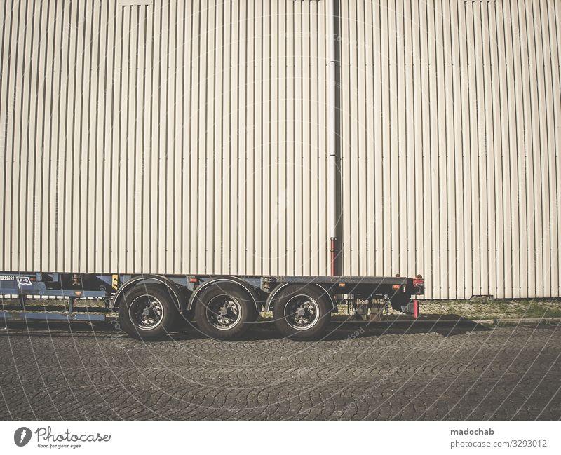 Hänger & Steher sparen Handel Güterverkehr & Logistik Dienstleistungsgewerbe Business Mittelstand Unternehmen Architektur Mauer Wand Fassade Verkehr Lastwagen