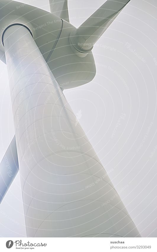 ufo (2) UFO Windrad Rotor Maschine Konstruktion Stamm Windkraftanlage Klimaschutz Klimawandel Energiewirtschaft Drehung abstrakt Detailaufnahme Nahaufnahme