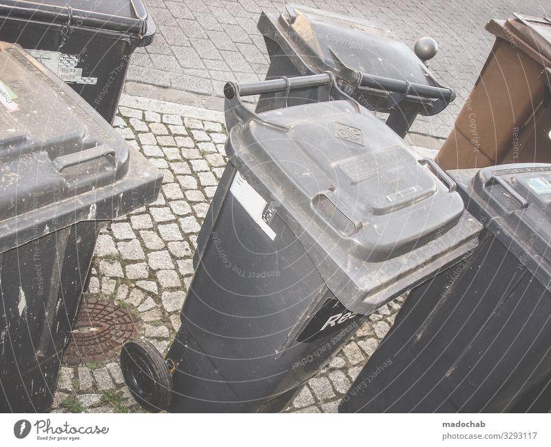 Abfall Stadt dreckig Zukunft planen Zukunftsangst Reichtum Müll Dienstleistungsgewerbe trashig Gesellschaft (Soziologie) Umweltschutz nachhaltig Handel