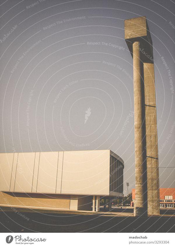 somewhere elegant Stil Industrieanlage Fabrik Bauwerk Gebäude Architektur Stein Beton Stahl ästhetisch trashig trist Stadt Design Farbfoto Gedeckte Farben