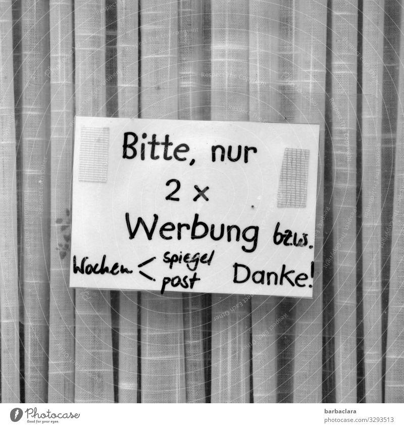 Geschriebenes | Sonderwünsche Haus Fenster lustig Gebäude grau Häusliches Leben Tür Schriftzeichen Glas Schilder & Markierungen lesen schreiben Wunsch