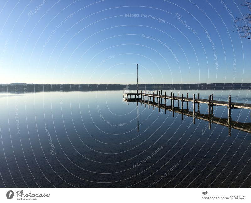 Ruhe am See Lifestyle Freude Glück harmonisch Erholung ruhig Meditation Winter Winterurlaub Sport Schwimmen & Baden Umwelt Natur Landschaft Wasser