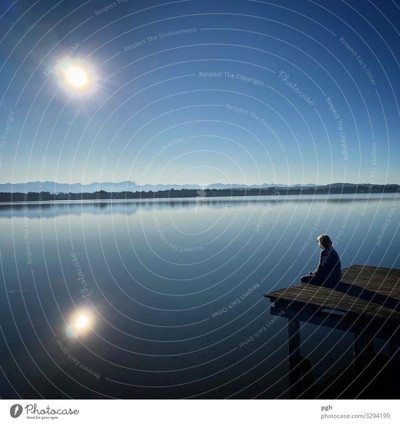 What a dream . . . Natur blau Wasser Sonne Erholung ruhig Freude Berge u. Gebirge Lifestyle Holz Glück außergewöhnlich Freiheit Stimmung Zufriedenheit