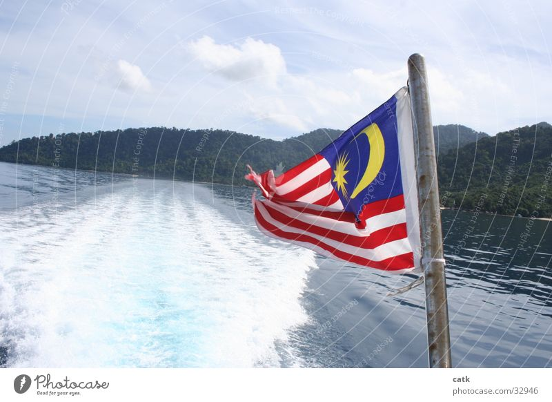 Malaysia Meer Strand Küste Wasserfahrzeug Insel Geschwindigkeit fahren Fahne Schifffahrt Wassersport Fahrbahn Pulau Tioman