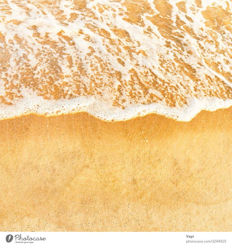 Strandsand und Meereswelle Erholung Ferien & Urlaub & Reisen Tourismus Ferne Sommer Sommerurlaub Sonne Insel Wellen Natur Landschaft Erde Sand Wasser
