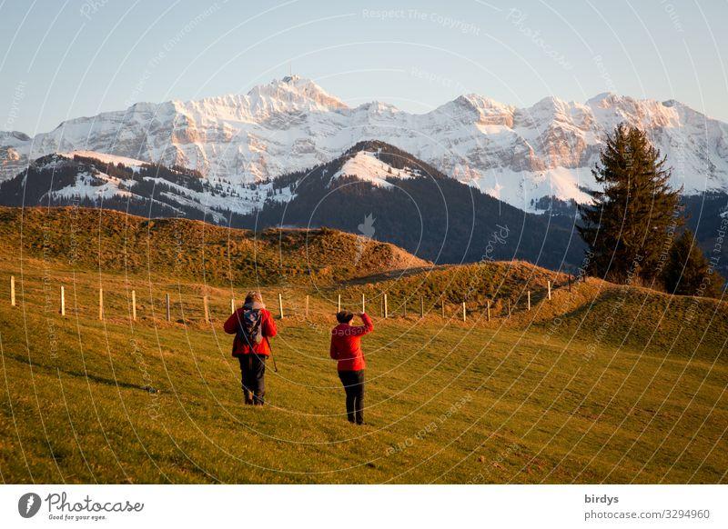 Wandern im Appenzeller Land Leben Ferien & Urlaub & Reisen Winter Schnee Winterurlaub Berge u. Gebirge wandern feminin Erwachsene 2 Mensch 45-60 Jahre Natur