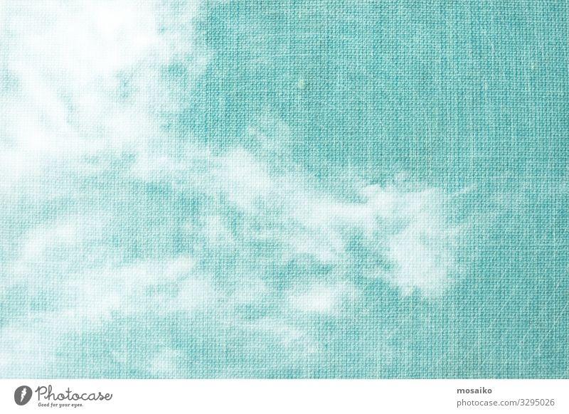 weiße Wolken auf blau strukturiertem Hintergrund Lifestyle elegant Stil Design Freude Wellness Leben harmonisch Wohlgefühl Zufriedenheit Sinnesorgane Erholung