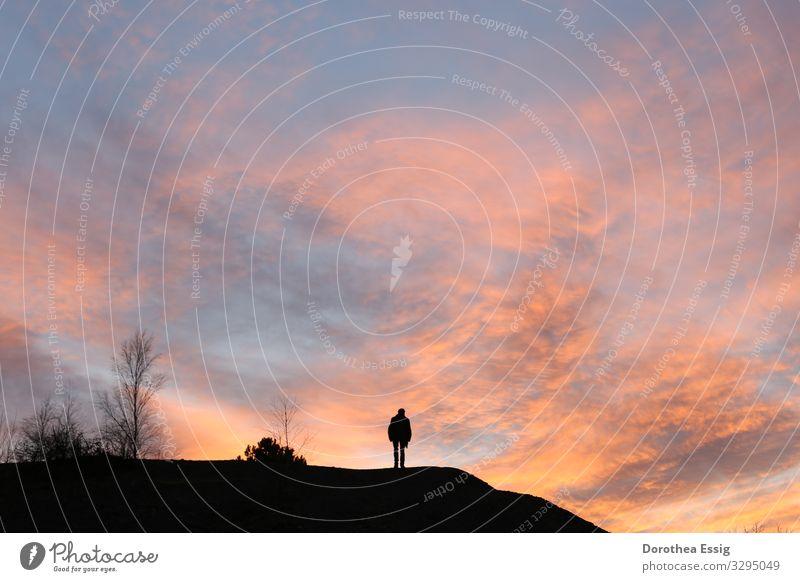 Caspar David Friedrich heute Mensch Himmel Natur Mann Landschaft Erholung Wolken Einsamkeit ruhig Winter Erwachsene Deutschland Tourismus Stimmung wandern