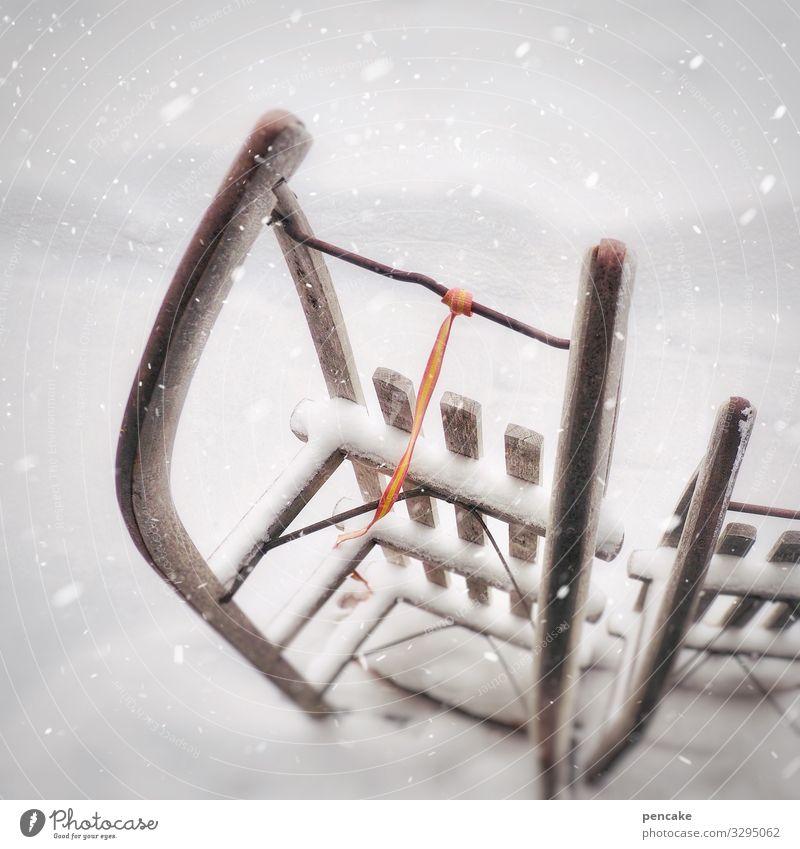 bereitschaftsdienst Freude Freizeit & Hobby Skifahren Snowboard Natur Schnee Schneefall Sport Schlitten Winter Farbfoto Außenaufnahme