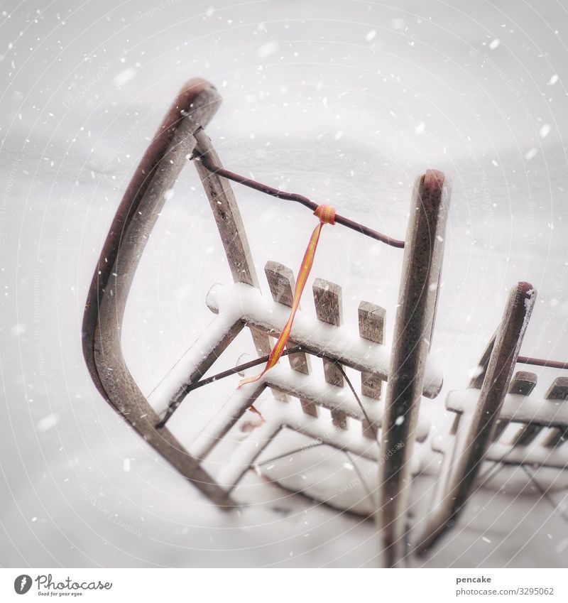 bereitschaftsdienst Natur Freude Winter Schnee Sport Schneefall Freizeit & Hobby Skifahren Snowboard Schlitten