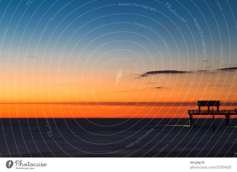 Pier 60 Ferien & Urlaub & Reisen Tourismus Ausflug Ferne Sommer Sommerurlaub Meer Natur Landschaft Himmel Horizont Sonnenaufgang Sonnenuntergang Schönes Wetter