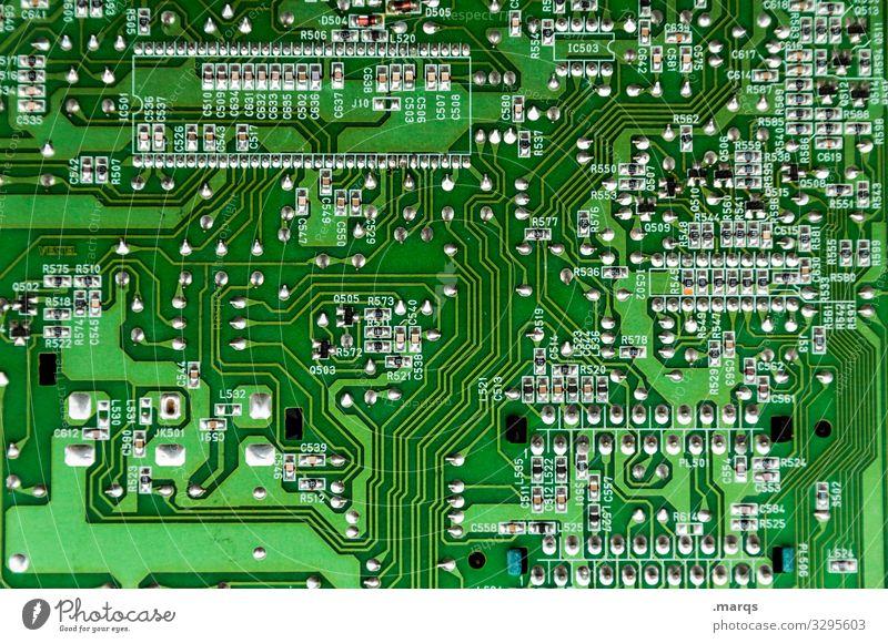 Schaltkreis Platine Computer Technik & Technologie Elektrisches Gerät Hardware Anschluss Linie elektrisch System Detailaufnahme Mikroschaltkreis