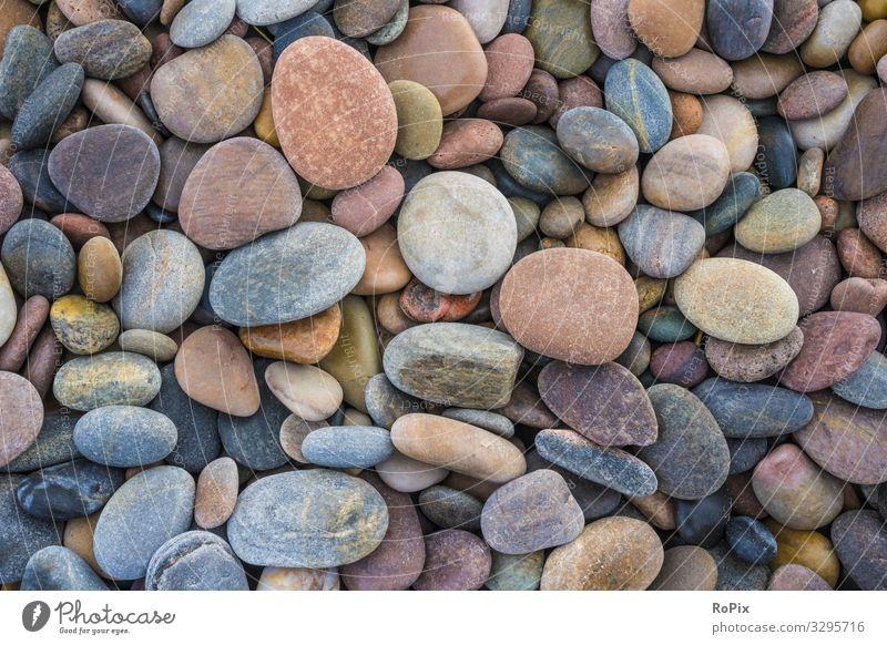 Kieselsteinmuster an einem schottischen Strand. Stil Wellness Sinnesorgane Erholung Meditation Freizeit & Hobby Ferien & Urlaub & Reisen Tourismus Meer Kunst