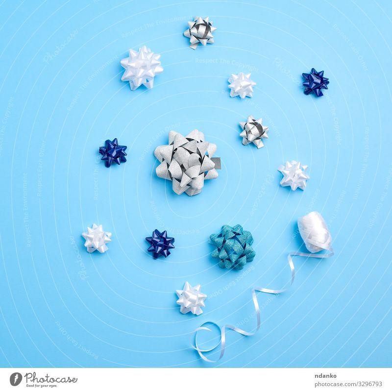 verwandte weiße, blaue und graue Schleifen kaufen Reichtum Design schön Dekoration & Verzierung Feste & Feiern Weihnachten & Advent Hochzeit Geburtstag